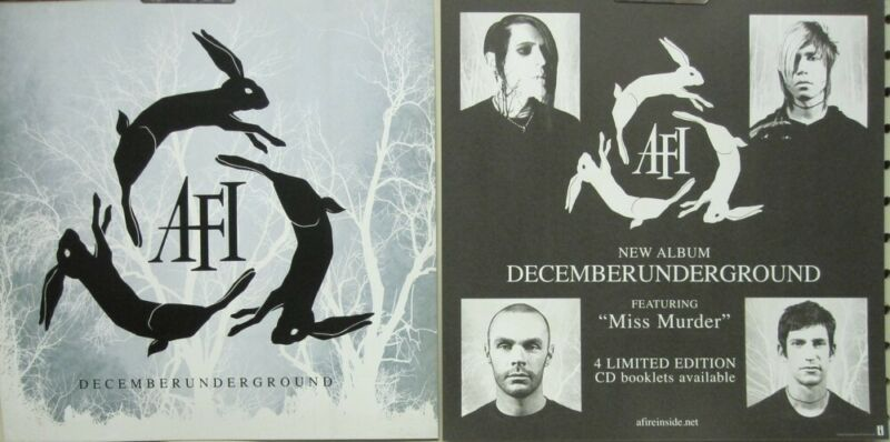 AFI 2006 December Underground 2 Sided promo poster/flat Flawless New Old Stock