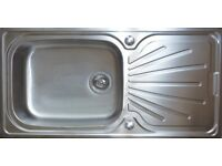 Super deep single bowl stainless steel sink 1000mm x 500mm (***Brand new***)