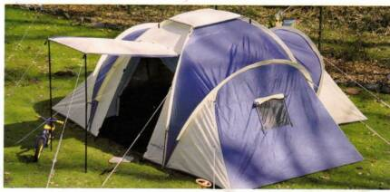 6 to 10 Person Dome Tent & 12 Person Family Camping Dome Tent Canvas Swag Hiking | Camping ...