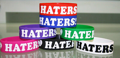 Liquidation Wholesale Lot I Love Haters Silicone Rubber Bracelet Wristband