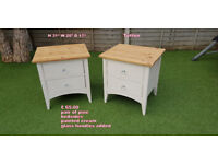 pine bedsides painted cream shabby chic furniture