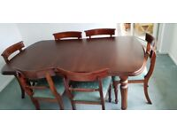 REDUCED!! Mahogany Dining Room Table and Six Chairs