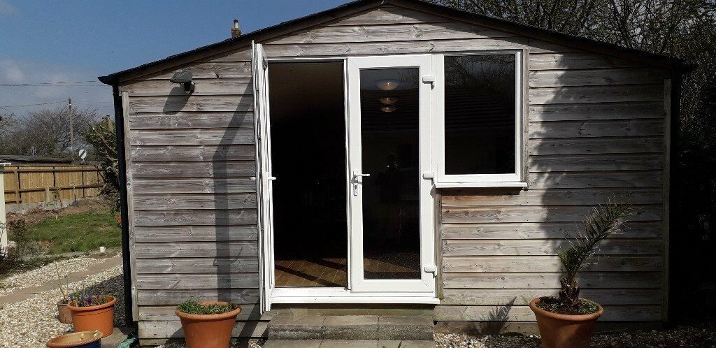 Incredible Superb 19X13 Summerhouse Office Gym With Double Glazing And Wiring Digital Resources Remcakbiperorg