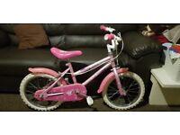 Girls bike, excellent condition! + FREE pink helmet
