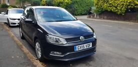 VW Polo 2015, black, built in Sat Nav