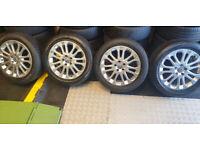 Volvo Genuine 17 alloy wheels + 4 x tyres 225 50 17 All Seasons M+S
