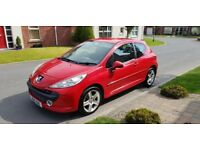 2007 PEUGEOT 207 1.4 MPLAY, 83K, TIMING BELT DONE, JUST SERVICED, LOW INSURANCE GROUP!