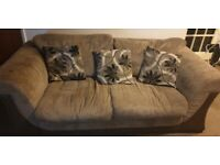 2 and 3 seater sofas with pouffe