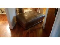 Lovely large real leather brown pooffie..great condition