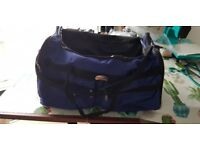 Blue/Black Extra Large Sports Travel Holdall Luggage Carry Cargo Weekend Business Bag