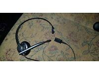 Plantronics single earpiece headset