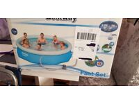 fastset 10ft family pool ,BRAND NEW IN SEALED BOX