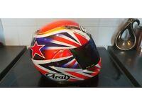 Arai Helmet Medium. Iridium Visor + Clear Visor + Bag