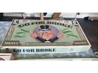 Old vintage collectible board game going for broke