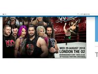 WWE Live x2 Tickets August 29th Block B Row B London 02 Arena