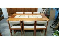 Gangsø Møbler Vintage Dining Table and Chairs No250317