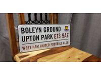 For sale Boleyn Ground Upton Park West Ham United FC Plate. In original packaging.