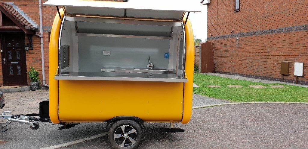 Mobile Catering Trailer Hot Dog Ice Cream Sweets Coffee Ready To Collect