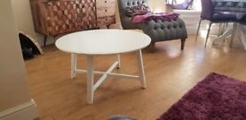 Ikea white KRAGSTA Coffee Table