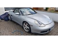 Porsche Boxter 2.5L 1998 Silver Breaking All Parts