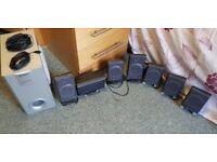 Creative surround speakers X7 and Panasonic subwoofer