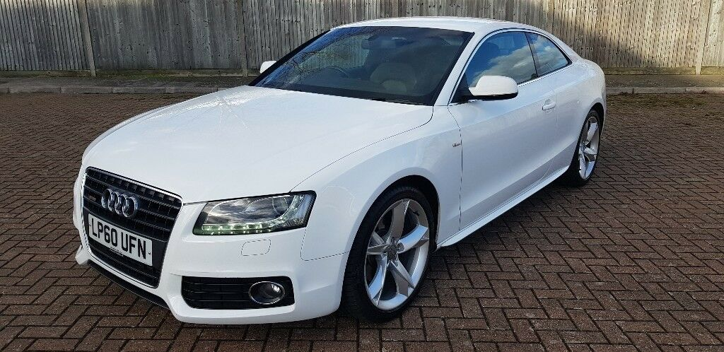 2011 audi a5 coupe 2 7 tdi s line special edition white full leather b o xenons automatic - White audi a5 coupe for sale ...