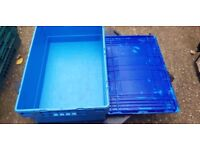 Blue Heavy Duty Plastic Storage Box Boxes With Lids