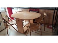 Drop leaf butterfly table and chairs