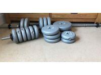 York 35kg Vinyl Barbell/Dumbbell set