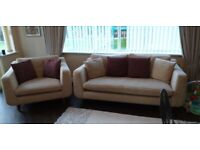 Barker and stonehouse sofa and snuggle chair with cushions. Excellent condition. £200