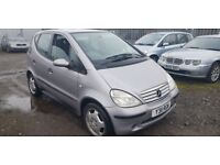 MERCEDES A CLASS AUTOMATIC ( EXCELLENT DRIVE ) ( ANY OLD CAR PX WELCOME )