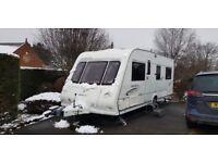 Compass Omega 544 fixed bed 4 birth caravan 2008