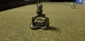 Cute little grey mouse ornamnent