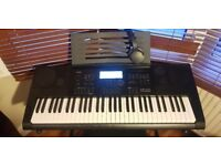 BRAND NEW Keyboard with Stand, Stool, Headphones and All Original Cables