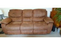 Sofa - 3 seater dual manual recliner