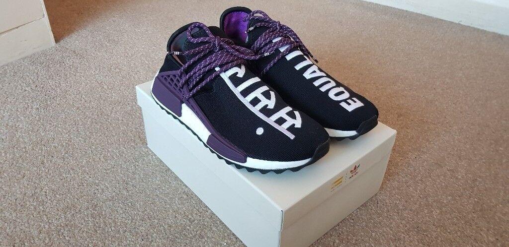 b55bac57a Adidas Pharrell Williams HU Holi NMD Size UK 9 Black Purple