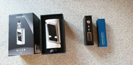 Smok Alien (mod only) and Innokin Disrupter with two batteries