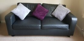 BEAUTIFUL BLACK SOFA FOR SALE BARGAIN PRICE £19 FOR QUICK SALE