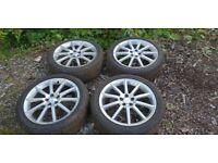 """4 * 18"""" Subaru (5*100 pcd) alloy wheels with Goodyear Eagle F1 Asymmetric tyres"""
