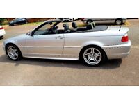 Excellent Condition Low Mileage BMW 318ci convertible, with optional Hard Top Roof