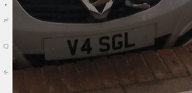 V4 SGL Private number plate