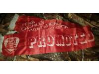 BRISTOL CITY FOOTBALL CLUB 1976 DIV.1 PROMOTION SILK SCARF - OVER 40 YEARS OLD! £45 or BEST OFFER.