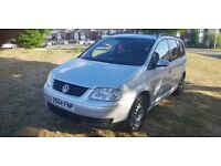 VW TOURAN 1,9 DIESEL + 7 SEATER + MOTORWAY MILES + ANY OLD CAR PX WELCOME + EXCELLENT SMOOTH ENGINE