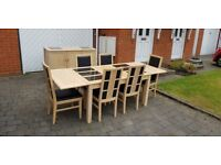 Large table (with extentions), 6 chairs and sideboard (Collection only)