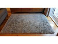 Grey IKEA Gaser rug