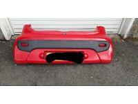 Rear bumper citroen c1 2007 red Peugeot 107 Toyota aygo back bumper