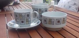 Retro 1970's Tea Set - Rushstone by Kathie Winkle