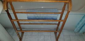 Pine Towel Rail Genuine Vintage