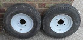 Trailer wheels as per photos
