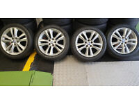 Jaguar Genuine Bermuda 17 alloy wheels + 4 x tyres 225 45 17